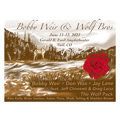 Bob Weir Bobby Weir and Wolf Bros Vail Event Print