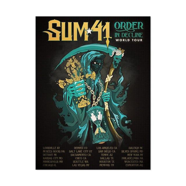 Sum 41 Order In Decline Tour Poster