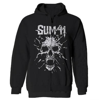 Sum 41   S41 Shattered Black Hoodie