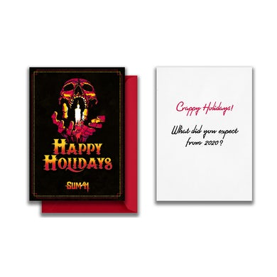 Sum 41   Signed Greeting Card