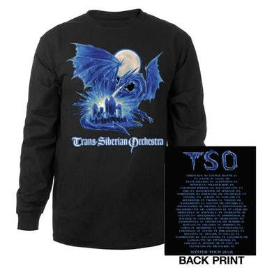 Trans-Siberian Orchestra Ice Dragon Long Sleeve Shirt