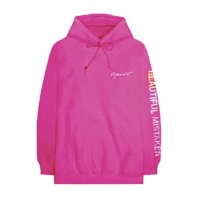 Beautiful Mistakes Glitched Magenta Hoodie