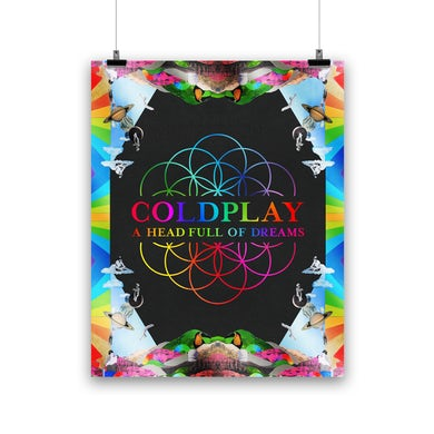 Coldplay A HEAD FULL OF DREAMS - LITHOGRAPH