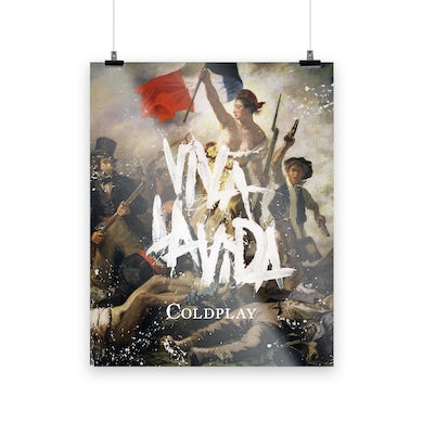 Coldplay VIVA LA VIDA OR DEATH AND ALL HIS FRIENDS - LITHOGRAPH
