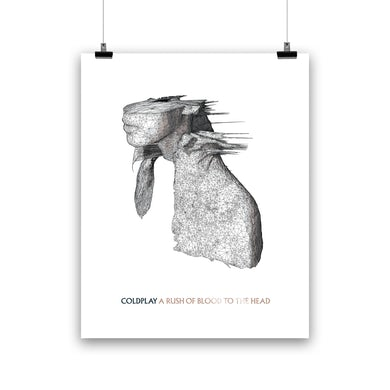 Coldplay A RUSH OF BLOOD TO THE HEAD - LITHOGRAPH