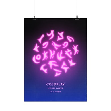 Coldplay HIGHER POWER - LITHOGRAPH