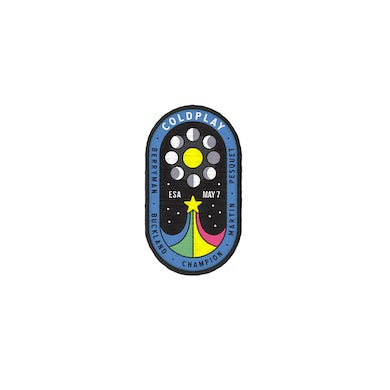 EUROPEAN SPACE AGENCY X COLDPLAY PATCH