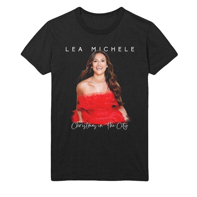 Lea Michele Red Dress Photo Tee