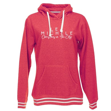 Lea Michele Christmas In The City Ladies Pullover Hoodie