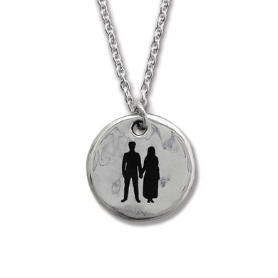 U2 Songs of Experience Round Silver Pendant
