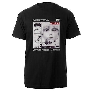 U2-3 Out of Control Photo Black T-Shirt