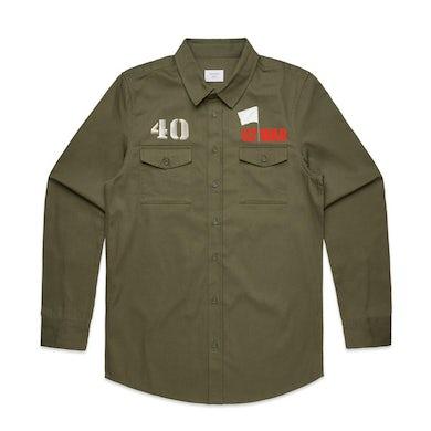 U2 WAR Military Style Shirt