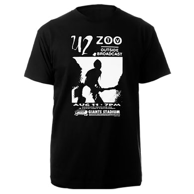 U2 Zoo TV Outside Broadcast Black Tee