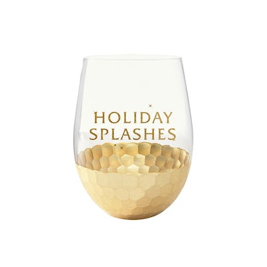 Mariah Carey Holiday Splashes Wine Glass