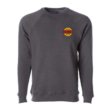 Soundgarden Sawblade Carbon Embroidered Crewneck Sweater
