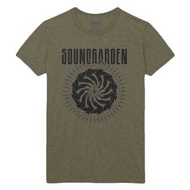Soundgarden Military Green Spark Plug Tee