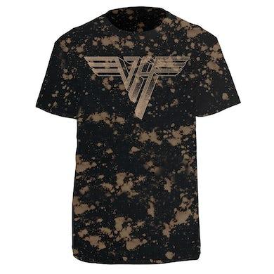 Van Halen Classic Logo Bleach-Dye Shirt