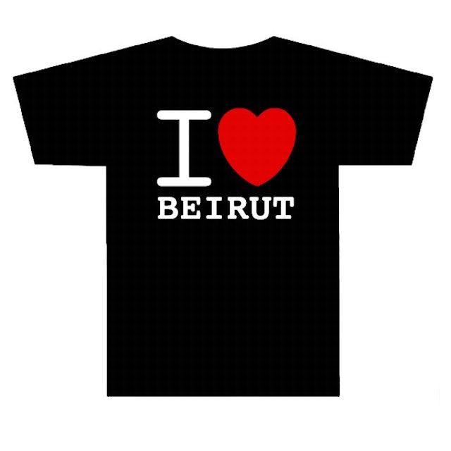 Gorillaz I Heart Beirut Black T-Shirt
