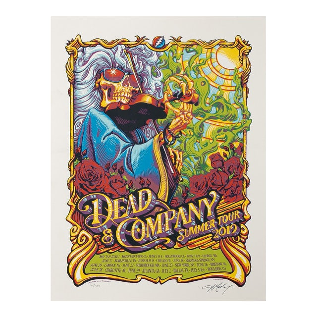 Dead & Company 2019 Summer Tour Event Poster