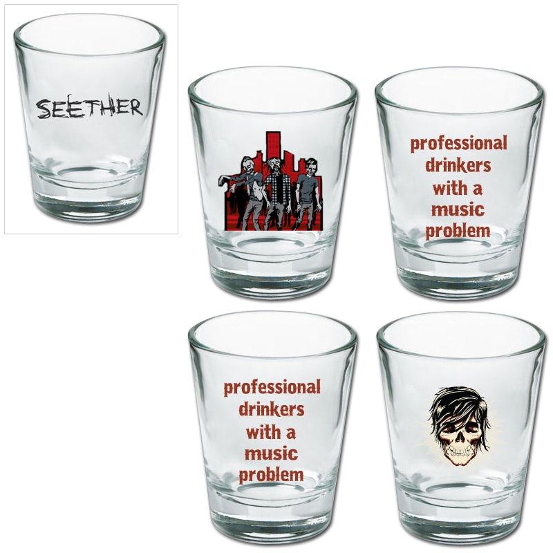 Led Zeppelin  SWAN SONG Logo Glass  2 Shot Glasses