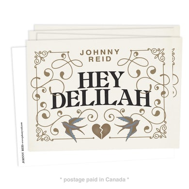"""""""Hey Delilah"""" Postcards with Postage (5-pack)"""