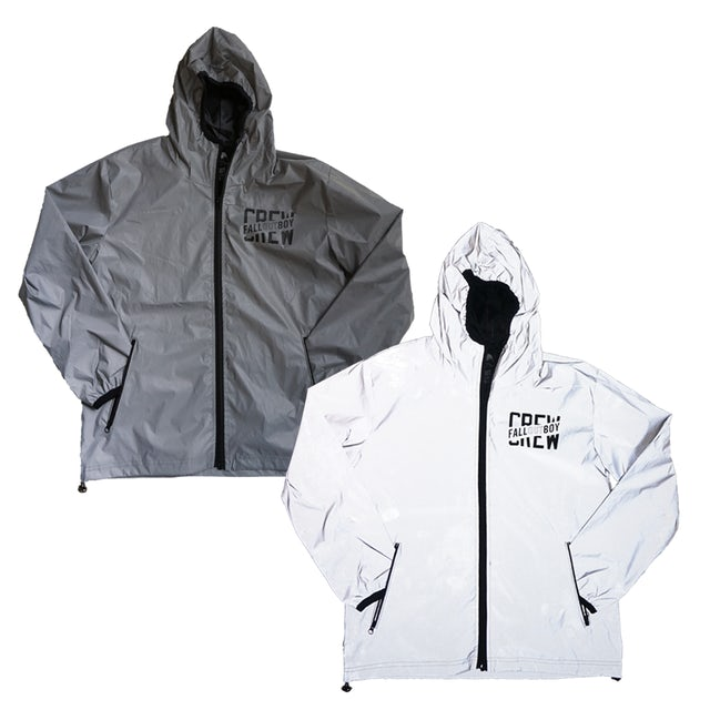 Fall Out Boy Silver Reflective Mania Tour Crew Jacket