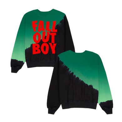 Fall Out Boy Diagonal Gradient Logo Crewneck
