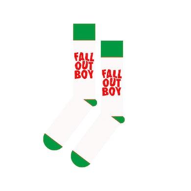 Fall Out Boy Holiday Logo Socks