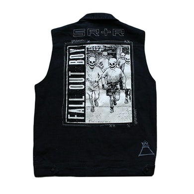 Fall Out Boy Custom Patched Denim Vest