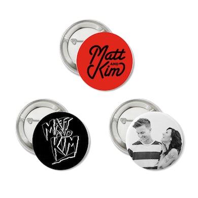 Matt & Kim 3 Button Pack