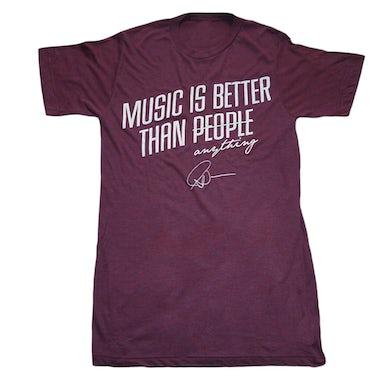 Matt Nathanson Music Better Than People Tri-Berry Tee
