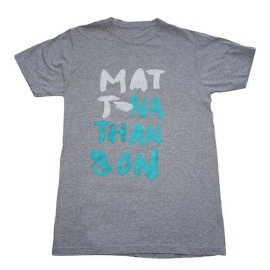 Matt Nathanson Grey Painted Name Tee