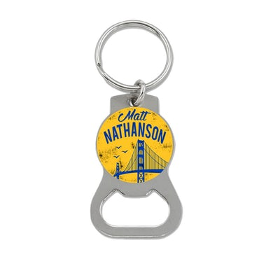 Matt Nathanson Bridge Yellow Bottle Opener Keychain
