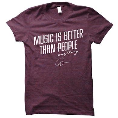 Matt Nathanson Music Is Better Than People Tri-Berry Tee