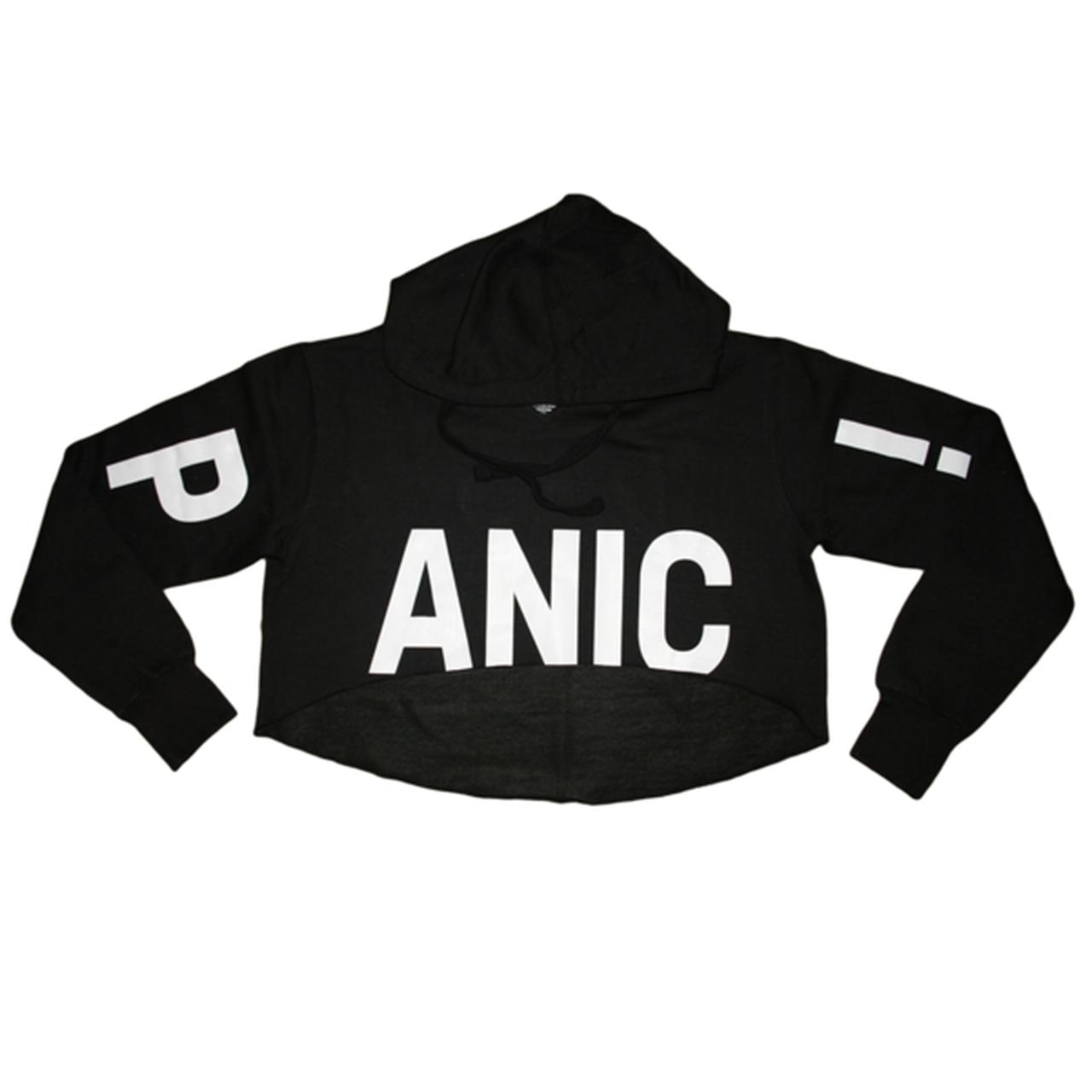 12364ce97 Panic At The Disco. Crop Pullover Hoodie