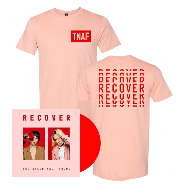 The Naked And Famous Recover T-Shirt Bundle (CD or Vinyl) [Pre Order]