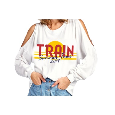Train White Shoulder Cut Out Spirit Jersey