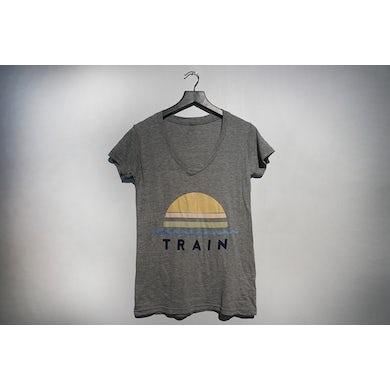 Train Grey Sunset V-Neck