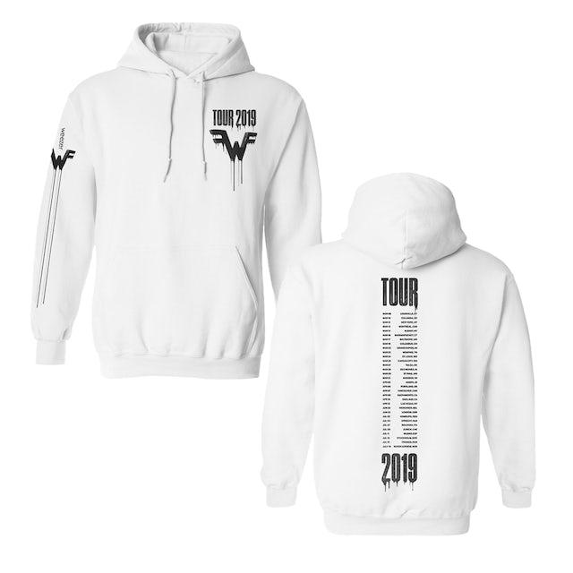 Weezer 2019 Tour White Pullover Hoodie