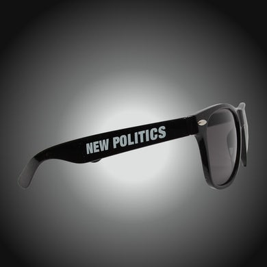 New Politics Black Logo Sunglasses