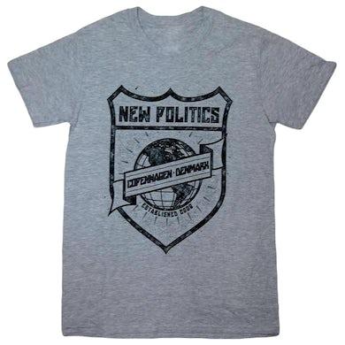 New Politics Heather Grey Crest Tee