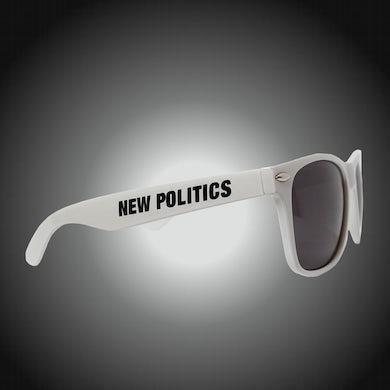 New Politics White Logo Sunglasses
