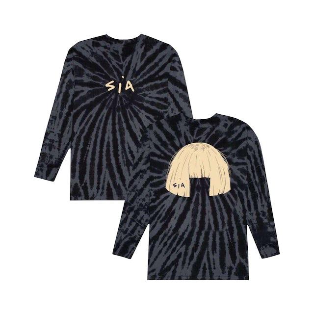 Sia Big Wig Black Tie Dye Long Sleeve