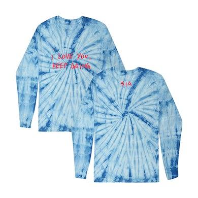Sia I Love You Tie Dye Long Sleeve