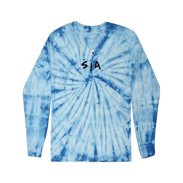 Sia Big Wig Tie Dye Blue Long Sleeve