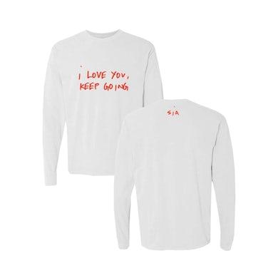 Sia I Love You White Long Sleeve