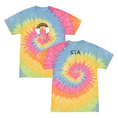Sia Headphones Tie Dye Tee