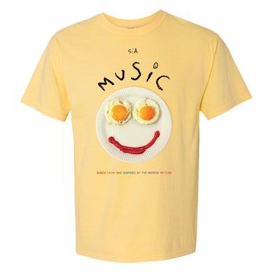 Sia 'Music' Yellow Tee