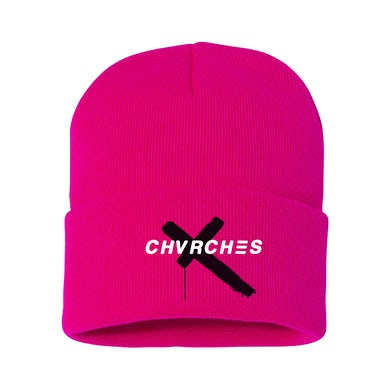 Chvrches Pink Embroidered Beanie