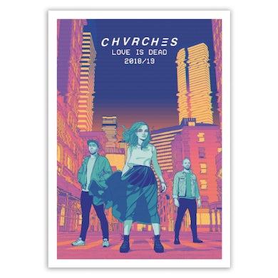 Chvrches Love Is Dead Tour Poster